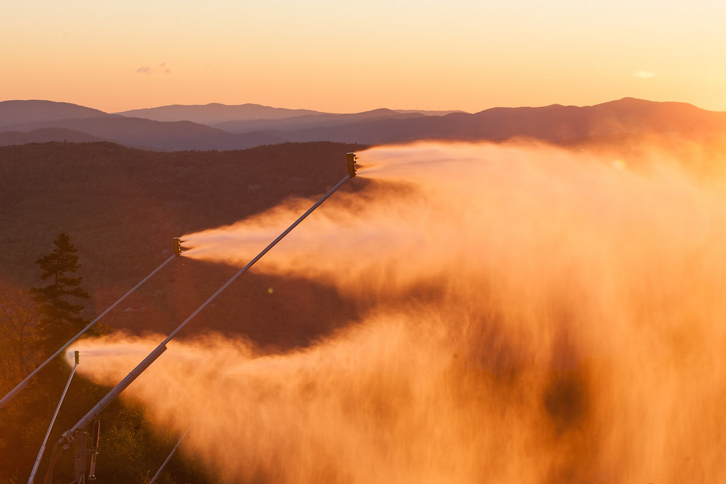 testing the snow guns at sunday river