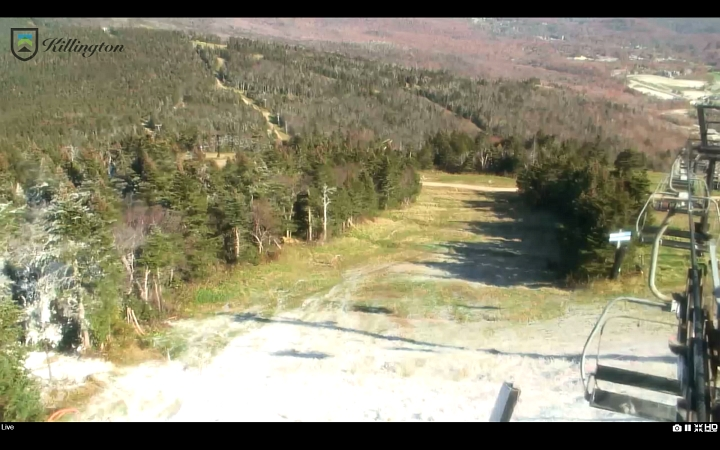 killington snowmaking test on north ridge