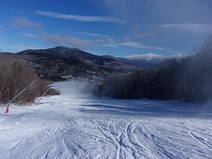 view of mount washington from bretton woods november 2017