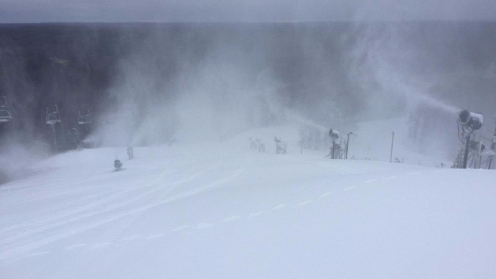 snowmaking at caberfae peaks in cadillac michigan