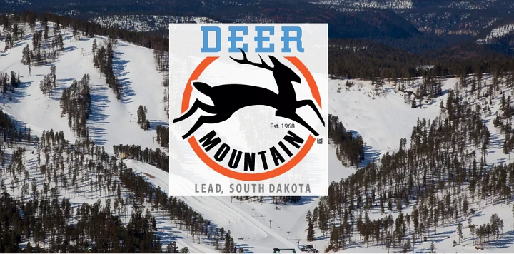logo and image from deer mountain south dakota ski resort