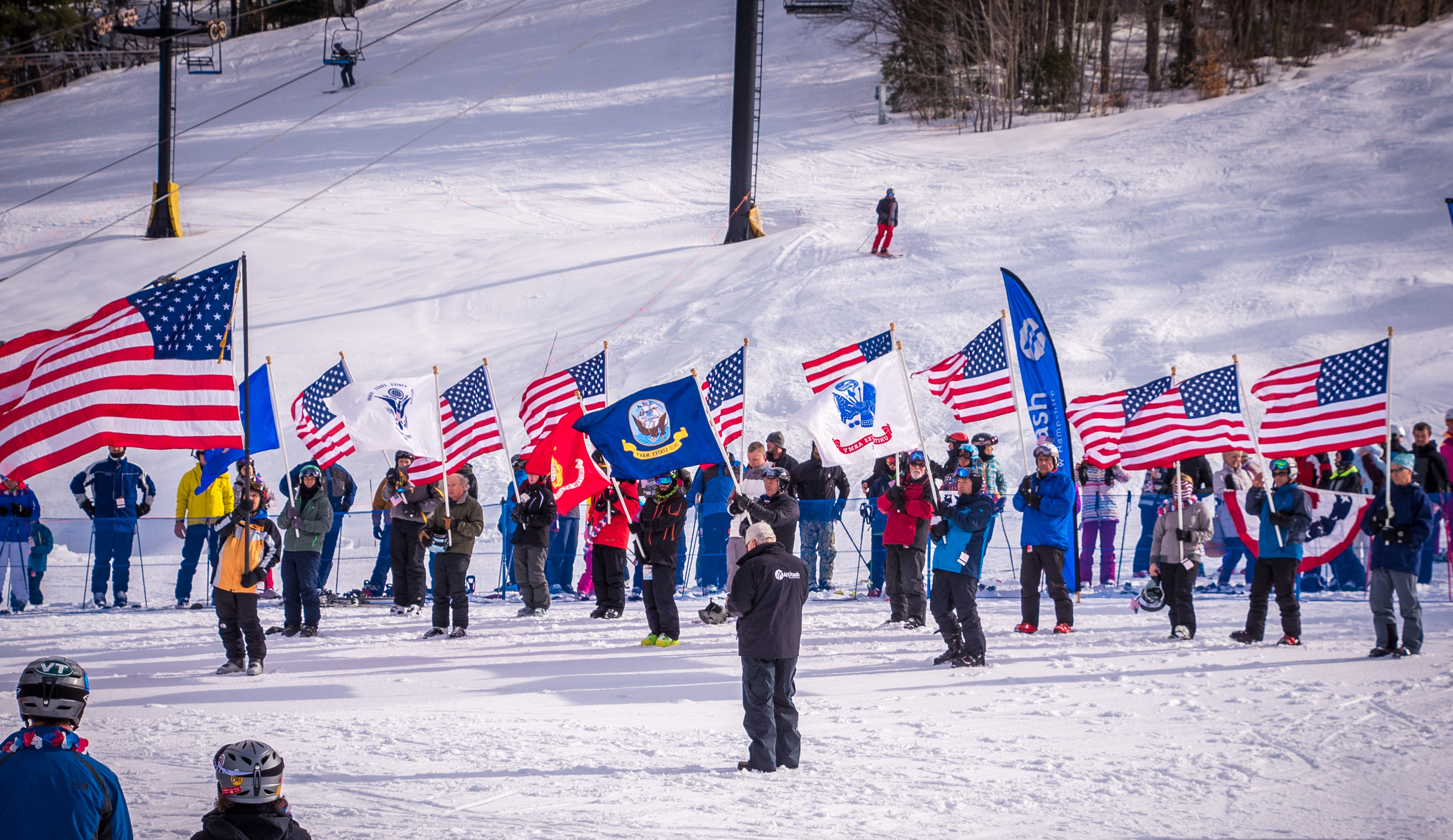 military salute at attitash ski resort new hampshire