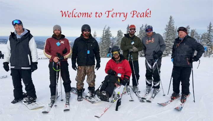 black hills ski for light at terry peak south dakota