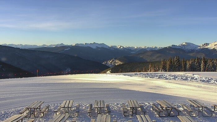 blue sky basin opened today at vail
