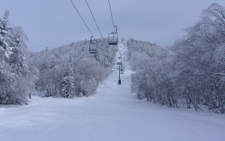 chairlift at bolton valley ski