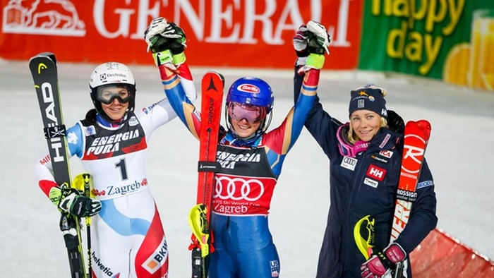 mikaela shiffrin crowned snow queen in kranjska gora