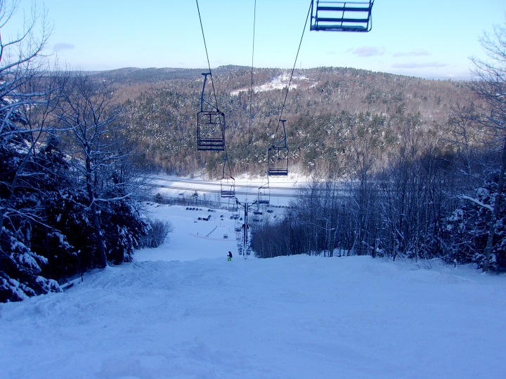 skiing ungroomed powder at Whaleback new hampshire