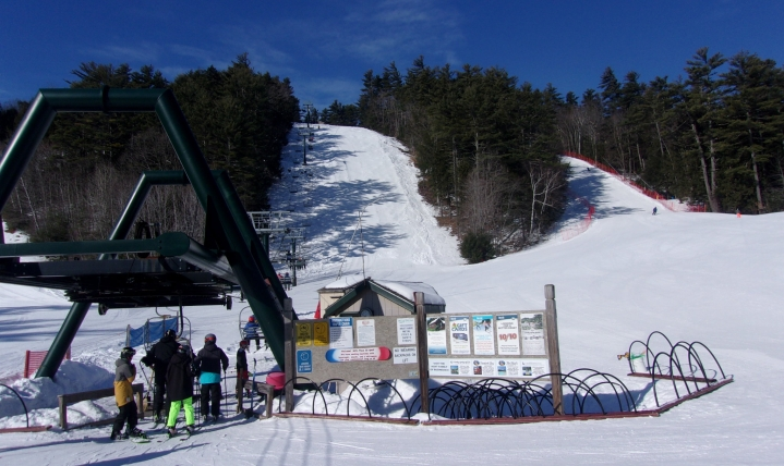King Pine ski area at Purity Spring resort in new hampshire