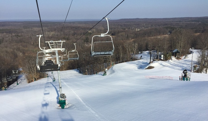 caberfae peaks michigan snow pack
