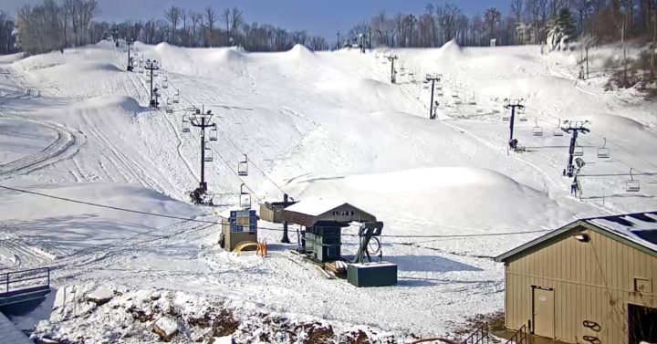 snowmaking at Boston Mills