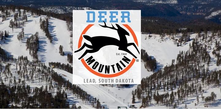 logo and image from deer mountain south dakota ski resort