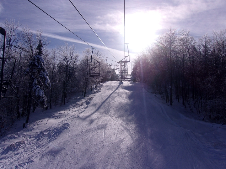 chairlift at whaleback ski area new hampshire