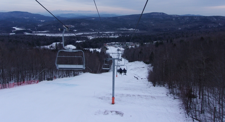 ragged mountain ski resort was in decent shape after the January thaw