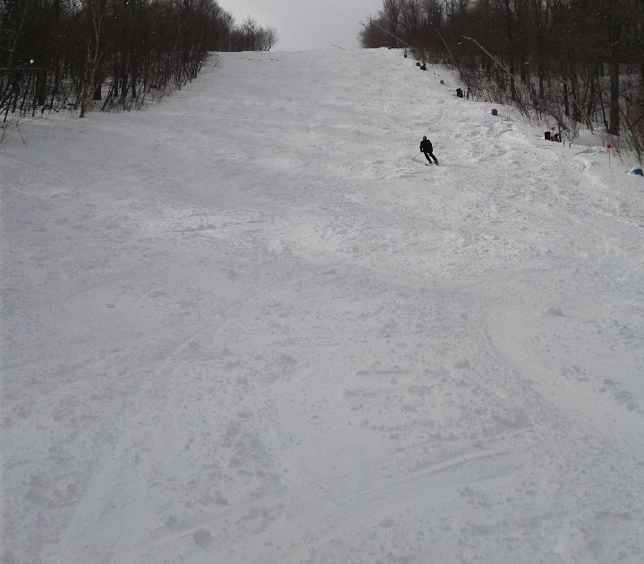 packed powder at windham new york ski resort
